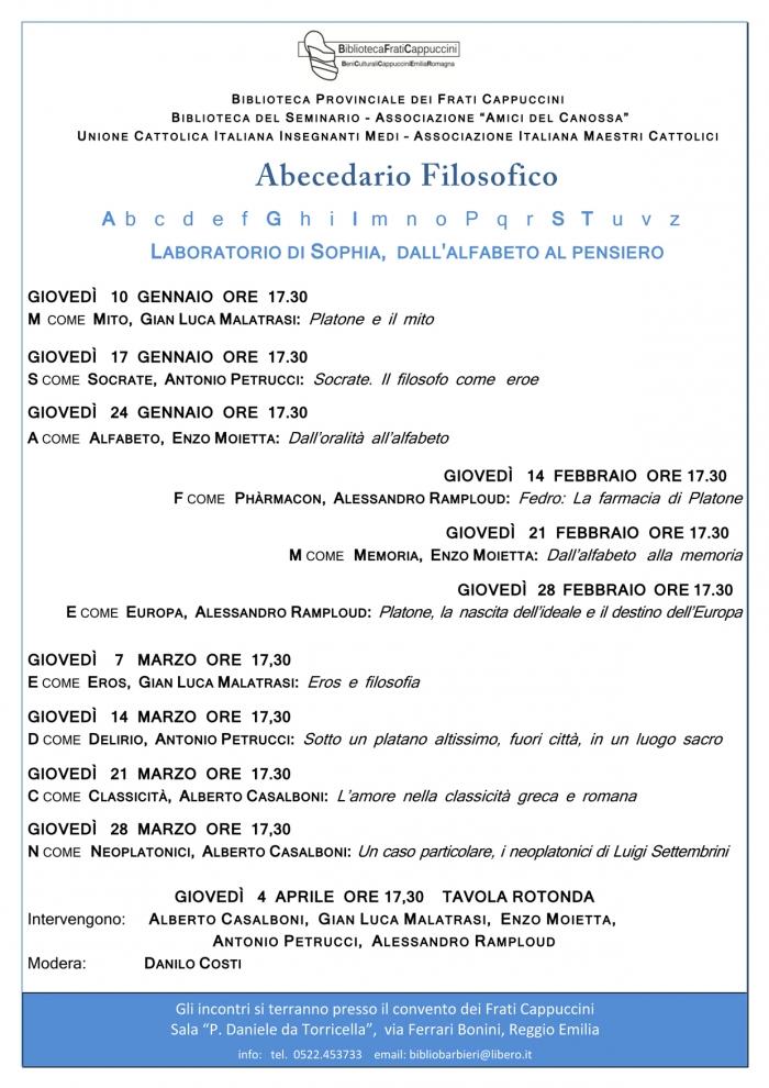 Giovedì 14 Marzo Abecedario Filosofico Antonio Petrucci Sotto Un